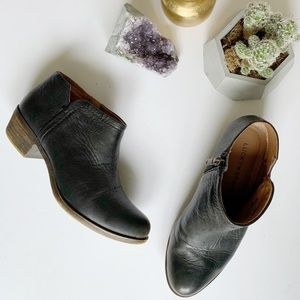 Lucky Brand black leather bootie